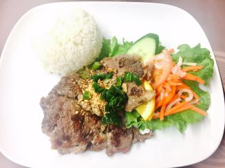Lemon Grass Beef with Rice